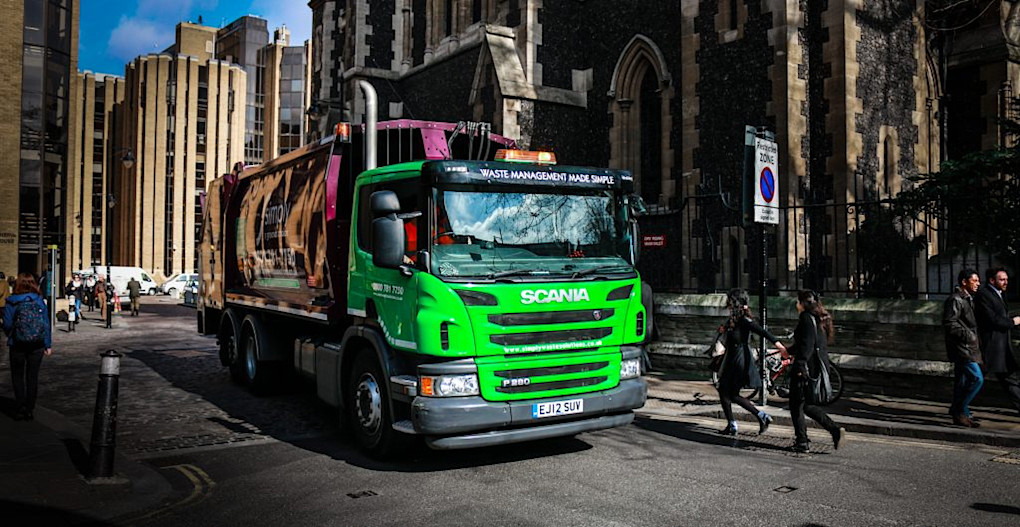 Simply Waste Solutions Truck in London
