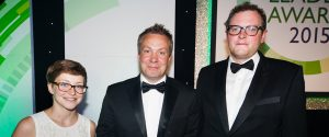 Peter Goodwin at BusinessGreen awards