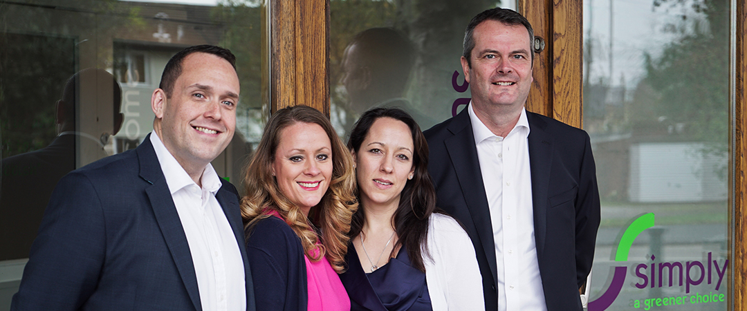 Simply Waste Solutions' board of directors. James Capel, Caroline Hughes-Miles, Natalie Capel and Mark Cook
