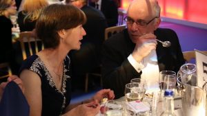 Simply Waste Solutions summer charity ball, man and woman at table talking