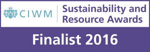 sustainability and resource awards finalist 2016 CIWM