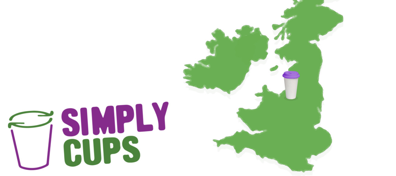 Simply Cups coverage. UK map