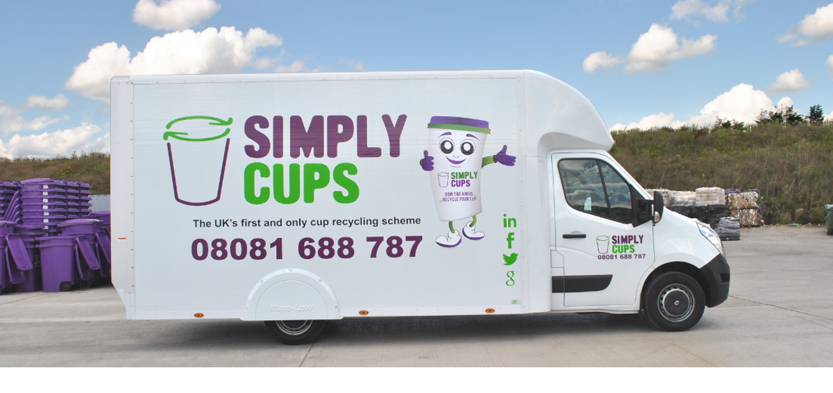 Simply Cups Paper Recycling Van