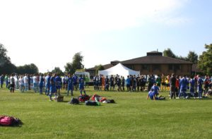 Waste World Cup, big crowd of people at the football event