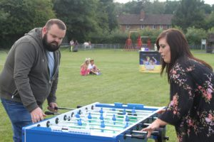 Simply Waste Solutions charity family fun day table football