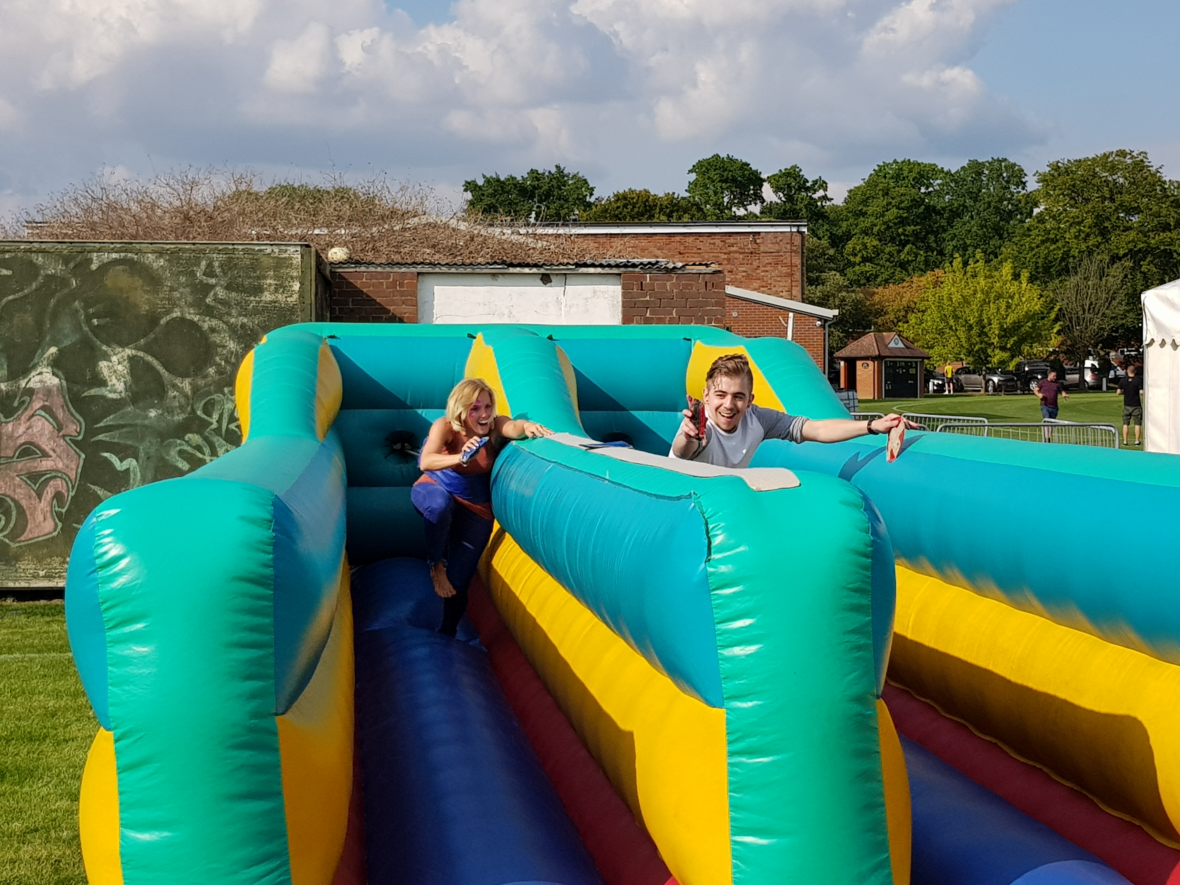 Simply Waste Solutions charity family fun day bouncy castle