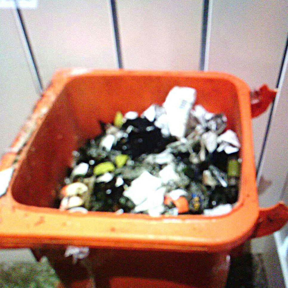 wheelie bin with broken lid