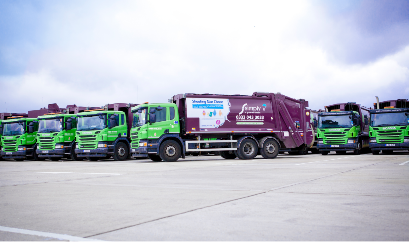 Simply Waste Solutions trucks