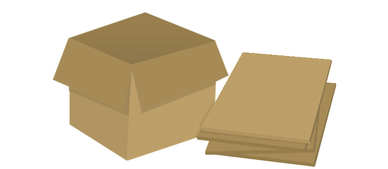 cartoon image of cardboard box