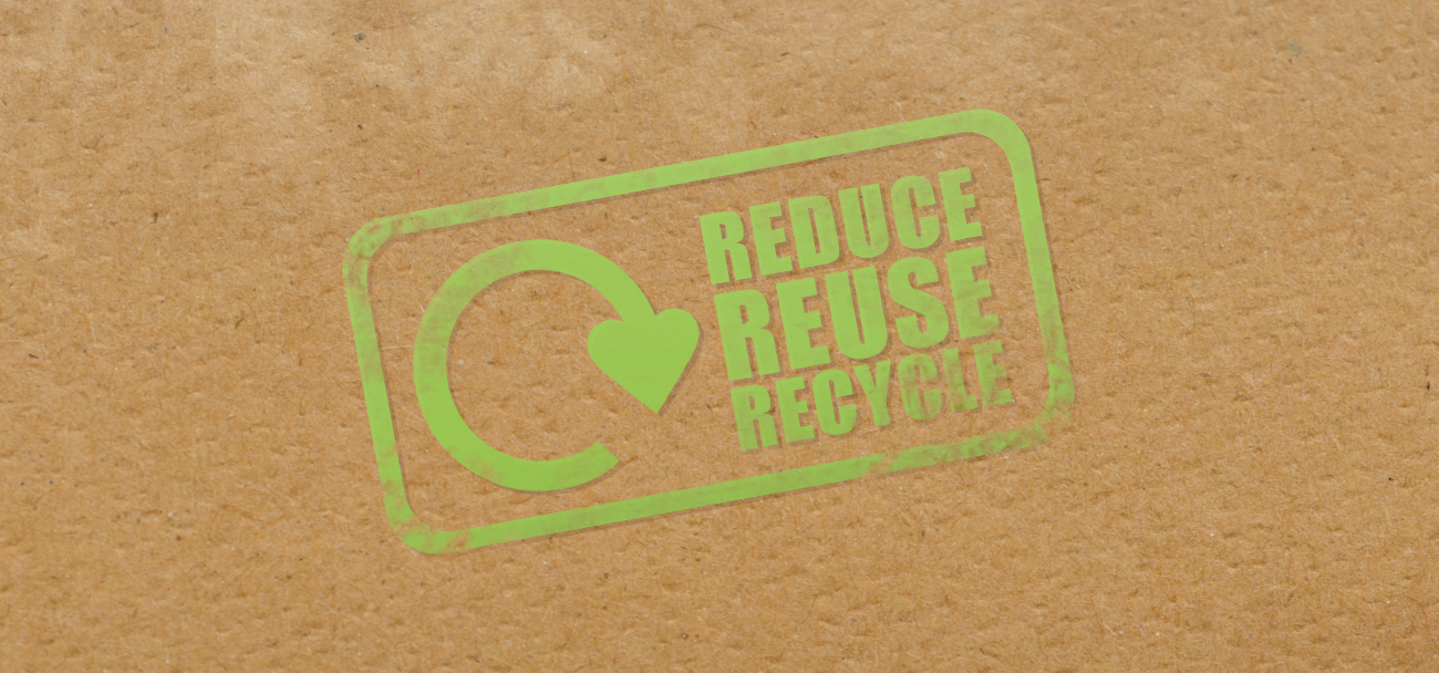 reduce, reuse and recycle symbol on textured background