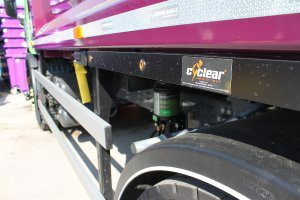 cyclear sticker on Simply Waste Solutions truck