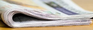 Folded over newspaper