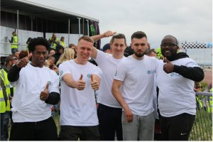 Simply Waste Solutions competing in National Refuse Championships. Proud team after completing race