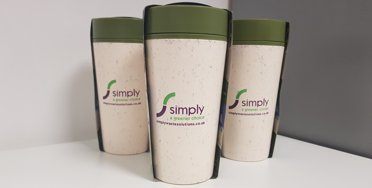 Simply Waste Solution branded rCUPs