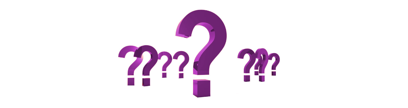 purple question marks
