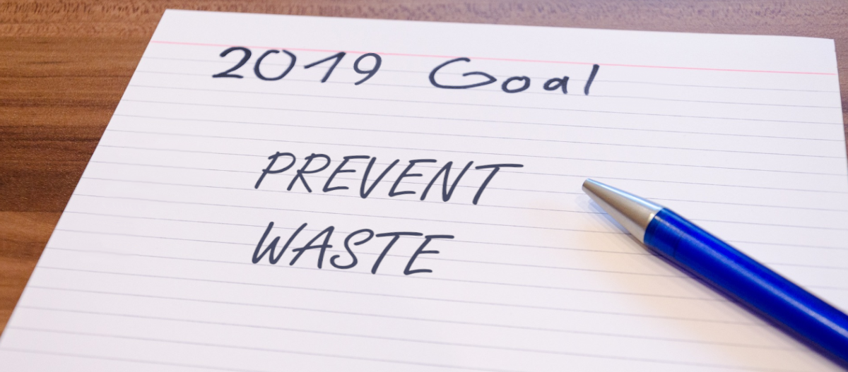 New year resolution is to prevent waste and reduce what you use
