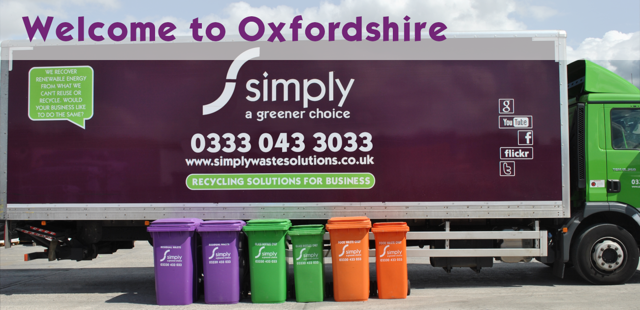Simply Waste Solutions truck with 240L bins in front