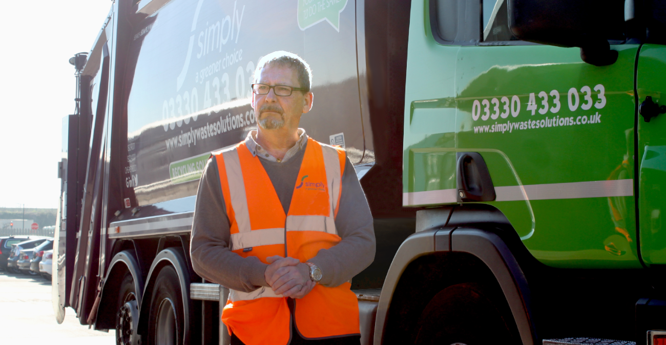 Kevin Barcroft, our Academy Training Manager standing in front of truck giving training