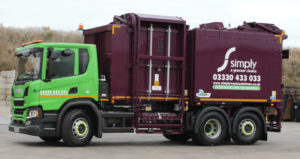 toploader truck glass waste recycling