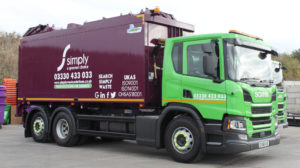 toploader truck food waste recycling