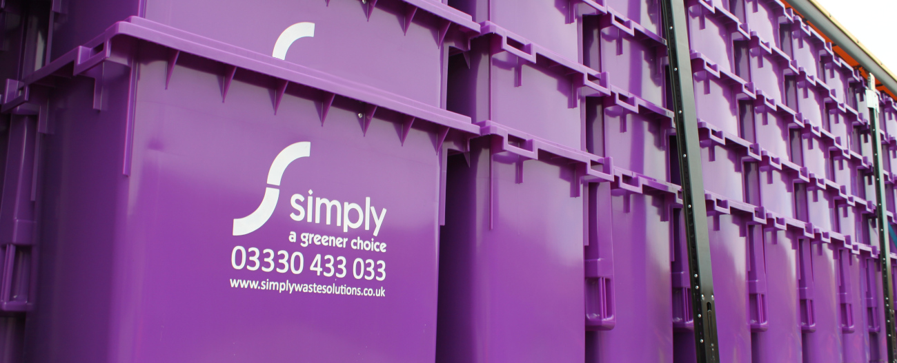 Simply Waste Solutions 1100 lire bins stacked