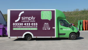 Simply Waste Solutions DMR caddy van