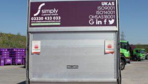 Simply Waste Solutions back of DMR caddy van