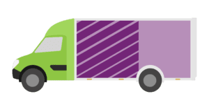 Graphic to represent a half load for clearance service