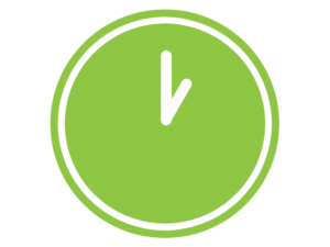 graphic of a clock to represent same day service for Simply Waste Solutions' clearance service