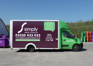 Simply Waste Solutions caddy van use for rubbish clearances