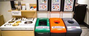 internal recycling bins at customer site