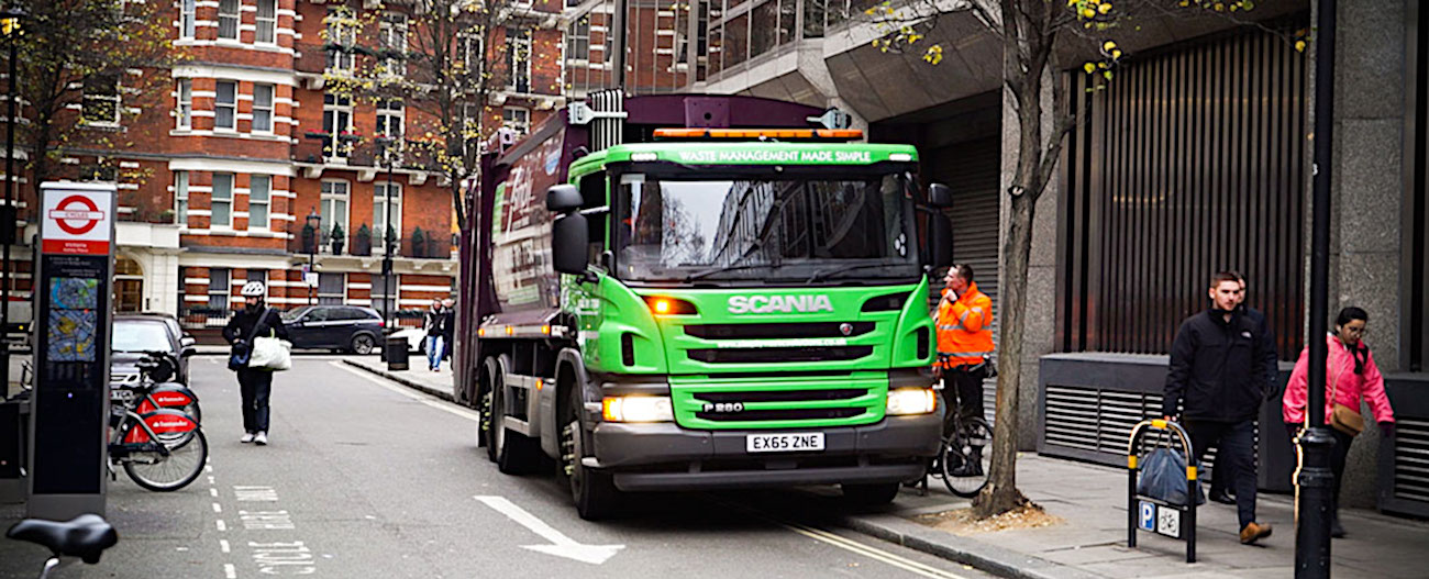 Simply Waste Solutions driver and truck in London