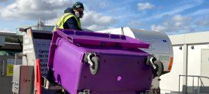 bin cleaning company cleaning 1100Litre wheelie bin