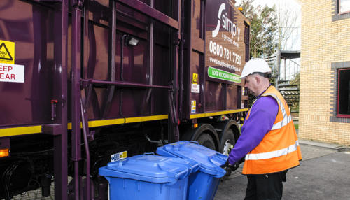 Food and Glass recycling being collected by Simply Waste Solutions