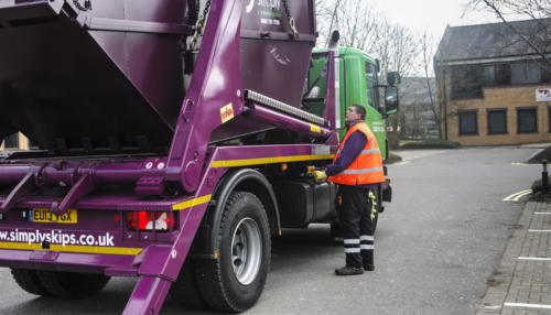 13 plate Simply Waste Solutions skip lorry