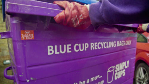 Simply Cups recycling container