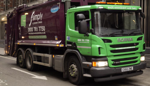 Trade Waste round being completed by Simply Waste Solutions