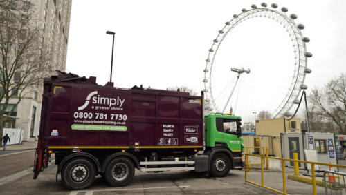 Top Loader food and glass collections in London, next to the London Eye