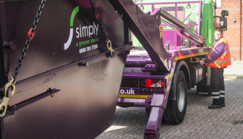 Simply Waste Solutions collecting waste for one of our skip lorries