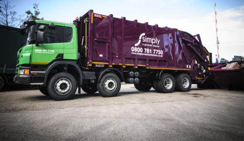 View of Simply Waste Solutions Rear End Loader (REL)