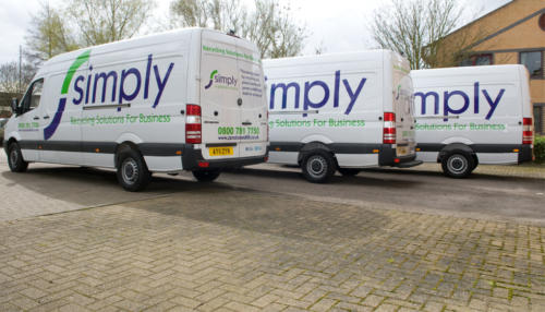 Parked Simply Waste Solutions vans
