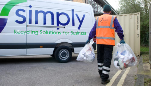 Simply Waste Solutions collecting waste for one of our vans