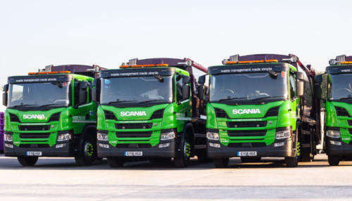 New 18 plate Simply Waste Solutions trucks
