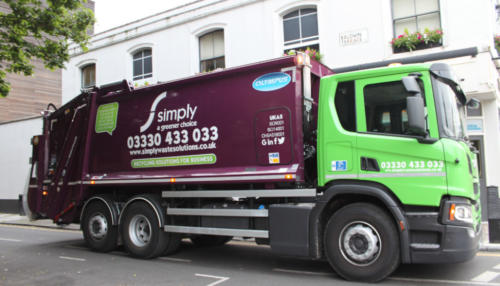 Simply Waste Solutions vehicle in London collecting waste