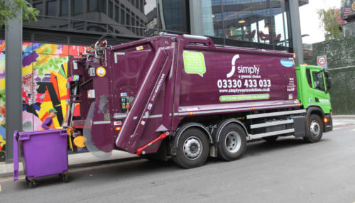 London bin collections with Simply Waste Solutions trade waste truck