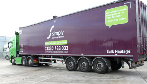 Simply Waste Solutions artic truck at the Stanwell Depot