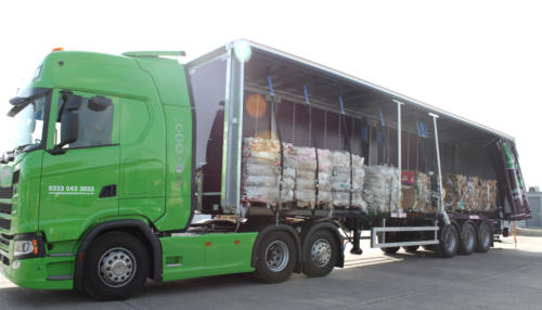 Loaded Simply Waste Solutions artic truck
