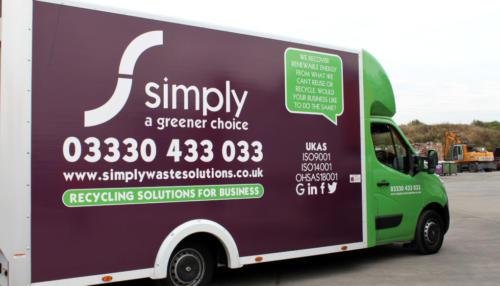 Simply Waste Solutions DMR sprinter van